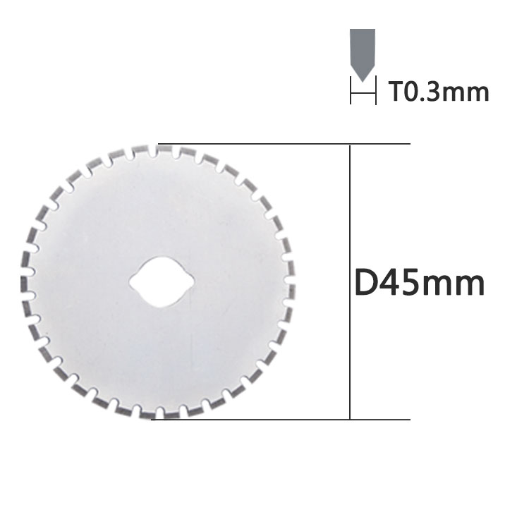 Industrial SKS-7 45mm Round Perforation Blade for Cutting Leather, Perforation Cutter Blade