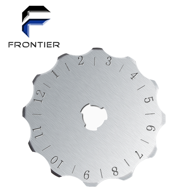 2019 Frontier Hot Selling Round Rotary Blade Steel Serrated Knife