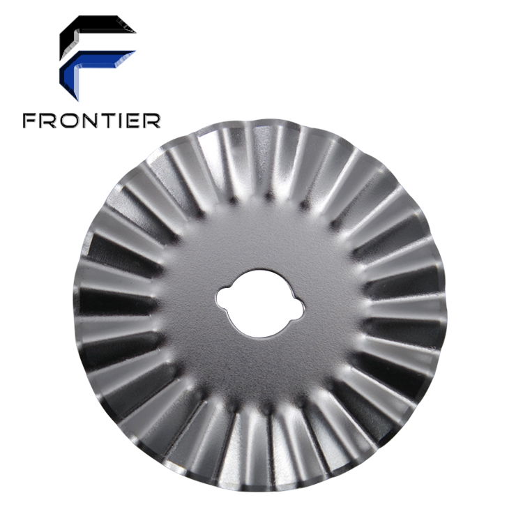 New manual wave cutting round blade